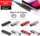 2in1 DUAL TYPE-C USB To 3.5mm AUX Jack Headphone Adapter Connector For HUAWEI