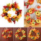 Maple Leaf Pumpkin Wreath Halloween Wreath Thanksgiving Decoration Door Hanging