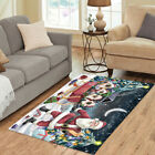 Personalized Christmas Santa Sled Siamese Cats Living Room Area Rugs Mats