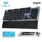 AULA F2088 Gaming Mechanical Keyboard Blue Brown Switch Wired Mix Backlit