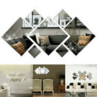 3d Decal Mirror Wall Sticker Diy Removable Art Mural Home Room Decor