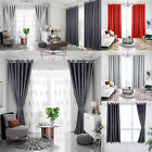Insulated Heavy Thick Thermal Blackout Curtains Eyelet Ready Made Ring Top Pair