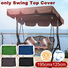 Swing Top Seat Cover Canopy Replacement Porch Patio Outdoor 2-3 Perso US