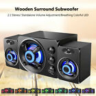 SADA USB Wired Computer Speakers Bass Stereo Music Party Subwoofer for PC Q7C7