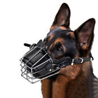Pets Dog Mouth Breathable Adjustable Anti-Bite Metal Muzzle Protection Cover