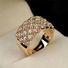 Gold Women Ladies Crystal Ring Bling Ring Girls Jewellery