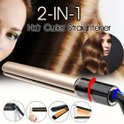 2 in 1Hair Straightener Curler Rotating Waver Tourmaline Ceramic Iron Salon A