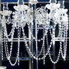 Crystal Lamp Pendant Decor Garland Transparent Bead Chandelier Hanging Curtain Q