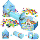 Portable Toddler Kid Play Tent House Pen Crawl Tunnel 3 in 1 Ball Pit Outdoor