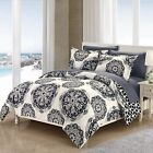 2/3 Piece Majorca Super Soft Microfiber Large Printed Medallion Reversible With