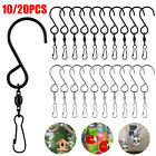 10/20x Stainless Steel Hook Swivel Snap For Clasp Clips Lots Hanging Wind Chimes