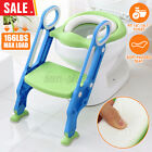 Toddler Toilet Chair Kids Potty Training Seat with Step Stool Ladder Soft Pad
