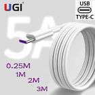 5A Super Charger Cable Sync Data Cord USB C For Type-C Samsung...