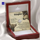 To My Daughter From Dad, Birthday Gift For Daughter Wolf Dad Love Knot Necklace