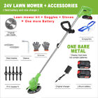 24V Portable Cordless Garden Electric Lawn Mower Trimmer Grass Cutter Weed Eater