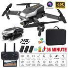 4K HD Dual Camera Drone Wifi GPS RC Quadcopter 360° FPV Selfie Video*3 Batteries