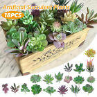 18 Pcs Mini Artificial Succulent Plants Kit Fake Flower Home Office Decor Craft