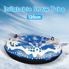 47'' Inflatable Snow Tube PVC Heavy Duty For Children Adult Outdoor Sledding