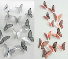 12pcs 3d Butterfly Art Decals Home Room Decorations Décor Wall Stickers
