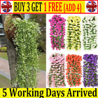 Artificial Fake Hanging Flowers Vine Plant Home Garden Decor In/outdoor Cw Uk