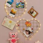 Wall Decorative Iron Wall Photo Grid Panel Rack Painted Wire Photograph Hanging
