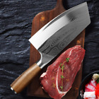Stainless Steel Meat Cleaver Kitchen Damascus Chef's Butcher Carbon Knife