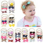 Baby Girl Headbands and Hair Bows For Newborn Infant Toddler Nylon Hairbands