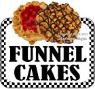 Funnel Cakes DECAL (CHOOSE YOUR SIZE) Food Truck Concession Vinyl Sticker