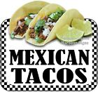 Mexican Tacos DECAL (CHOOSE YOUR SIZE) Food Truck Concession Vinyl Sticker