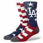 Stance Men's MLB Los Angeles Dodgers Brigade LA 2 Socks Blue Footwear Uncommo...
