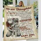 To My Daughter Blanket From Dad, Velveteen Plush Blanket Love From Dad