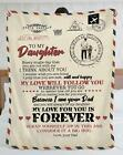 To My Daughter, A Letter To Daughter Love From Dad Velveteen Plush Blanket