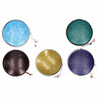 14in 15 Tone D Steel Tongue Drum with Bag Mallets Bracket for Entertainment