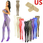 Women's Toe to Bust Body Stockings Pantyhose Lingerie Crotchless Briefs Bodysuit