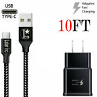 3/6/10Ft Fast Charger Type C USB Cable For OEM Samsung Galaxy S10 S9 S8 Note 8 9