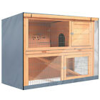 """48"""" Rabbit Hutch Cover Waterproof Large Double Garden Pet Bunny Cage Covers US"""