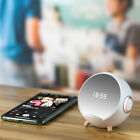 Smart Portable Bluetooth Speaker With Alarm Clock and Smart Wireless Charging