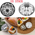 US 5Pc Non-stick Egg Tart Pan Flower Mold S/M/L Cake Muffin Cupcake Bakeware Cup