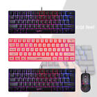 Gaming Mini Wired Keyboard RGB Backlit Multi Color Wrist Rest for Gamers
