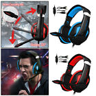 LED Colorful Over Ear Gaming Headset with MIC Headphone Noise Cancelling