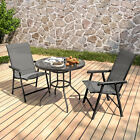 Cafe Garden Furniture Patio Set Parasol Hole Table &chairs Set 2/4 Garden Chairs