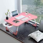 Laptop Bed Stand Breakfast Tray Standing Desk Foldable For PC Reading Writing