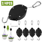 Strong Retractable Hanging Basket Pulley Pull Down Plant Yard Flower Hanger Hook