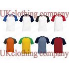 Fruit of the Loom Short Sleeve Baseball Cotton Crew Neck t-shirt - Men's Tops
