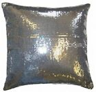 """4 x Glam Sequins Shiny 18"""" Filled Cushions Silver Red"""