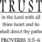 Trust In The Lord Lettering Sticker Vinyl Decal Words