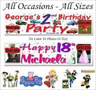 PARTY BANNER BIRTHDAY PERSONALISED & PHOTO ANY OCCASION