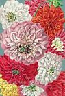 Vintage Seed Packet Mums Quilt Block Multi Sizes