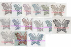 Lot of 10 Rhinestone Iron On Transfer butterfly