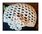 Cotton Hand Crochet Flower Mesh Flapper Cloche Hat New